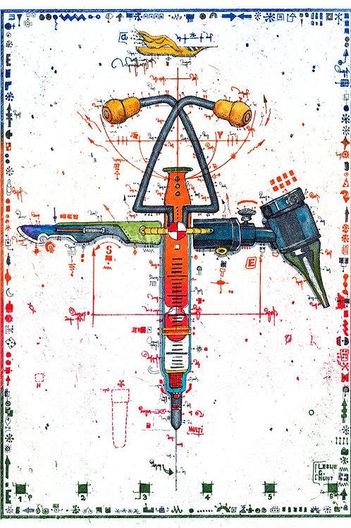 Farbradierung - Multi-Tool für den Arzt - Leslie G. Hunt