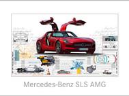 Auto Kunst-Mercedes Benz SLS AMG