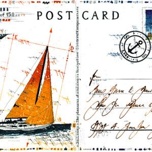 Postcard Sailing