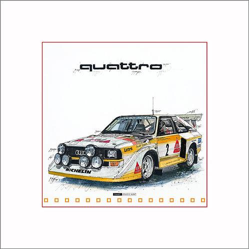 Audi Quattro S1, Rallye Auto, Audi, Quattro, Leslie G. Hunt