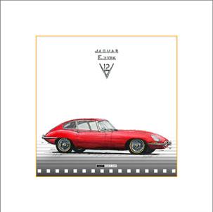 Auto Kunst Jaguar E-Type