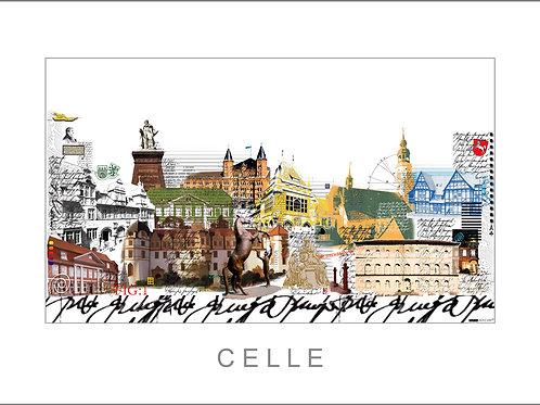 Fine Art Print, Giclée, Stadtansicht, City Print, Cityprint, Celle, Leslie G. Hunt