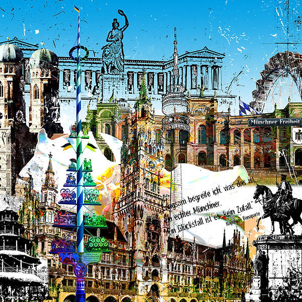 gallery print-muenchen-leslieghunt-stadtansicht