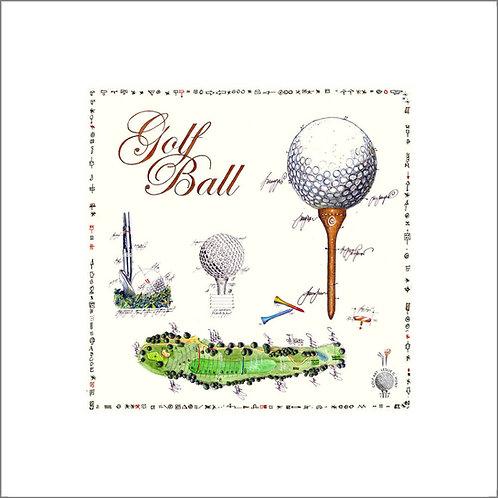 fine art print, golfball, leslieghunt