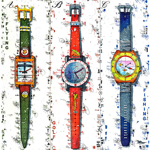Uhren - Fliegeruhr - Golfuhr - Taucheruhr