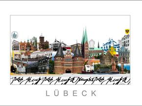 Stadtansicht City Print Luebeck