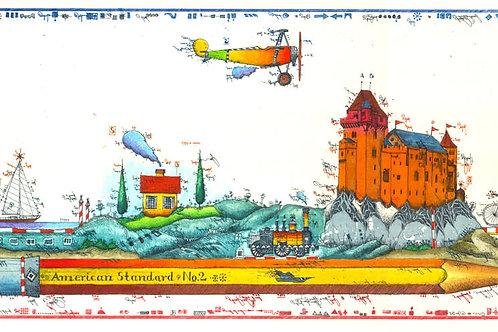 Farbradierung - Reise Zeichner - Leslie G. Hunt