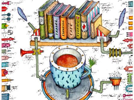 Das Thema: Espresso und Bücher