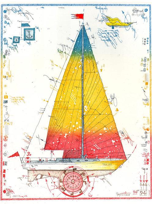 segelboot, schiff, rad, wassersport, leslie g. hunt