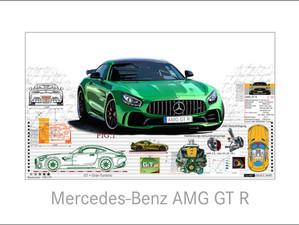 Auto Kunst-Car Art-Mercedes Benz-AMG GT R