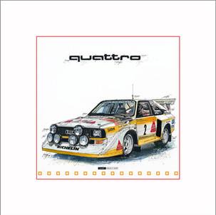 Auto Kunst Audi Quattro S1
