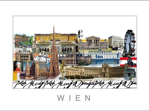 Fine Art Print - Stadtansicht - City Print -Wien - Leslie G. Hunt