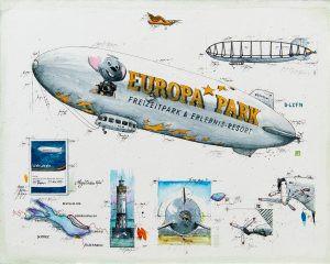Zeppelinflug über dem Bodensee