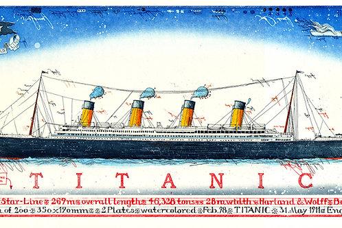 Farbradierung - Titanic - Leslie G. Hunt
