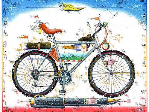 Fahrrad, Business, Farbradierung, Telefon, Leslie G. Hunt , Füller, Tintenfüller, Koffer