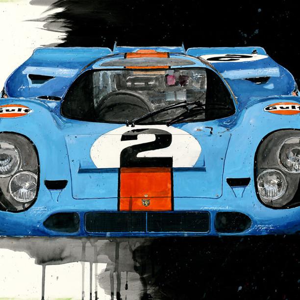 Galleryprint Gulf Porsche 917