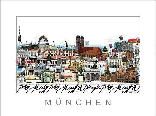 Cityprint, Stadtansicht, München, Leslie G. Hunt