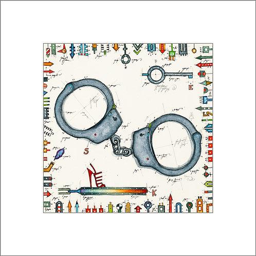 Handschellen, High Heel, Schlüssel, Leslie G. Hunt