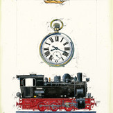 Gouache Stellwerk-996102-0 - Lokomotive