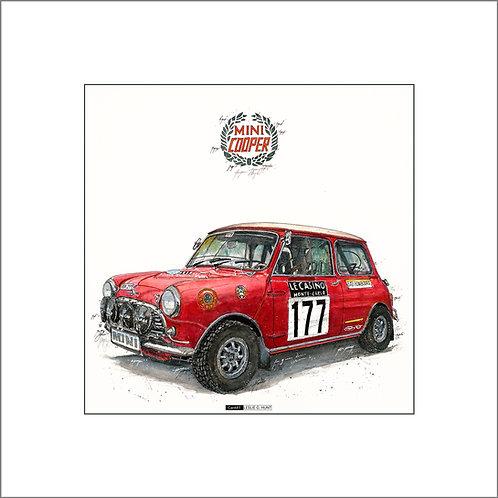 Mini Cooper, Rally Auto, Sieger Monte Carlo, Automobil