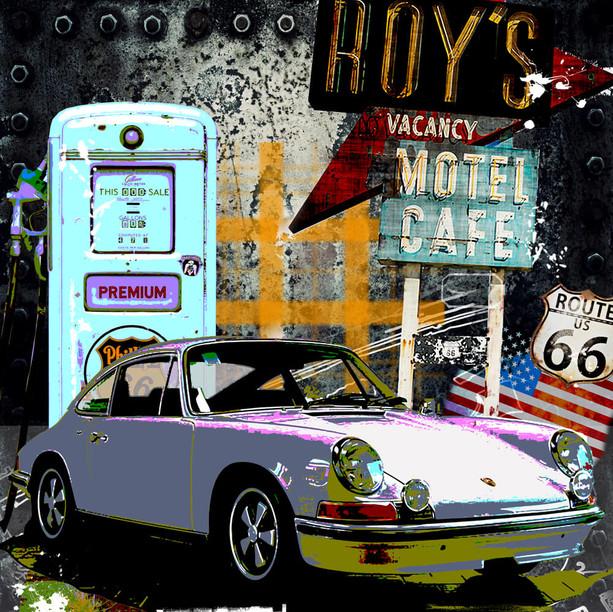 Autokunst Porsche 911 Route 66