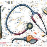 Farbradierung Stethoskop