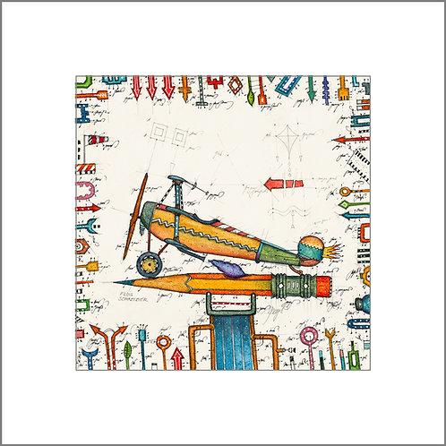Flugzeug, Bleistift, Flugschreiber, leslieghunt