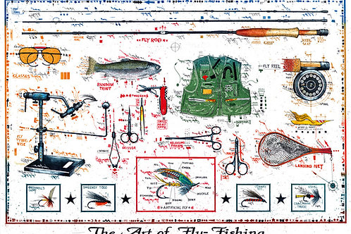 Farbradierung - The Art of Fly Fishing - Leslie G. Hunt