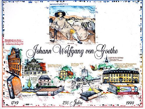 Farbradierung • 250 Jahre Goethe • von Leslie G. Hunt