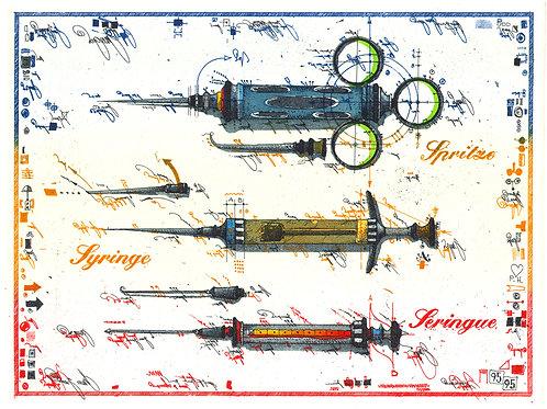 Farbradierung - Spritzen - Leslie G. Hunt