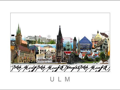 Fine Art Print - Stadtansicht - City Print - Ulm - Leslie G. Hunt
