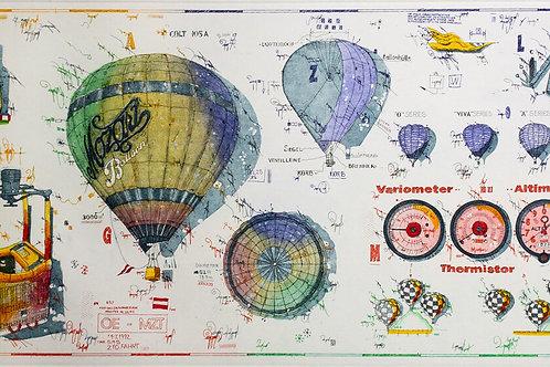 balloon, equipment for riding the wind, ballon