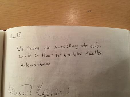 Einträge Gästebuch Ausstellung Nürtingen