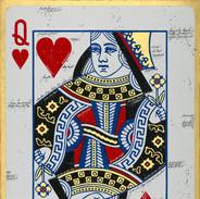 Acryl Bild Queen of Hearts