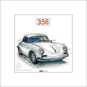 Auto Kunst Porsche 356