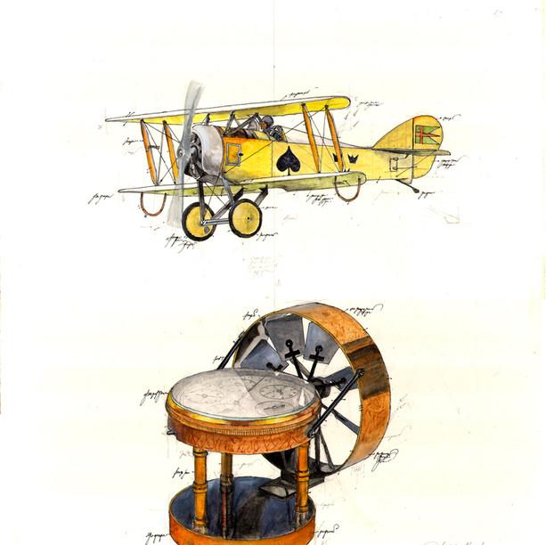 Gouache High Fly - Flugzeug