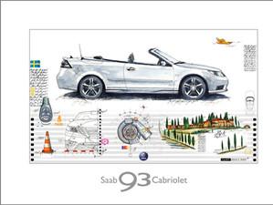 Auto Kunst-SAAB 9-3 Cabrio