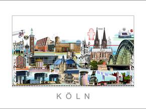 Stadtansicht-City Print-Koeln