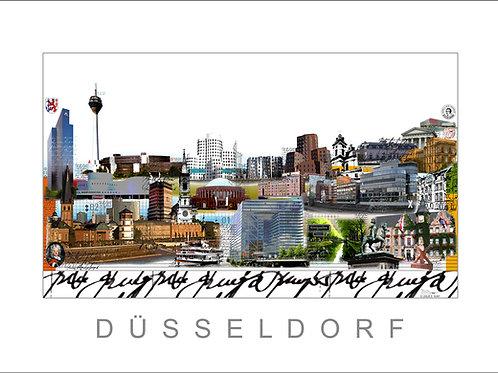 Fine Art Print - Stadtansicht - City Print - Düsseldorf - Leslie G. Hunt