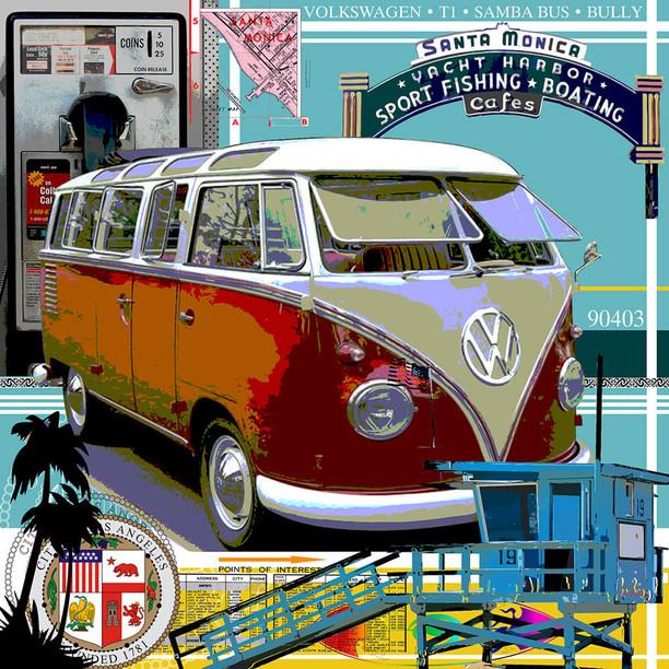 Galleryprint VW Bully T1 Samba Bus