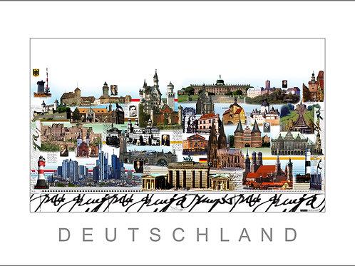 Cityprint, City Print, Stadtansicht, Deutschland, Leslie G. Hunt