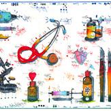 Farbradierung Für die Arztpraxis II