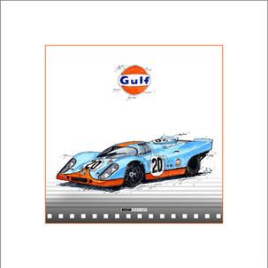 Auto Kunst Porsche 917 GULF