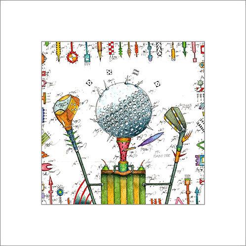 Golfball, Golfschläger, Iron, Wood, Tee