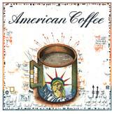 Farbradierung American Coffee