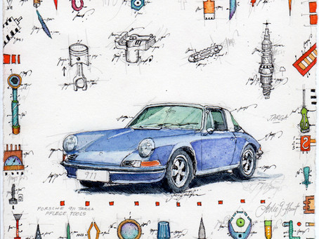 Porsche 911 TARGA PflegeTools