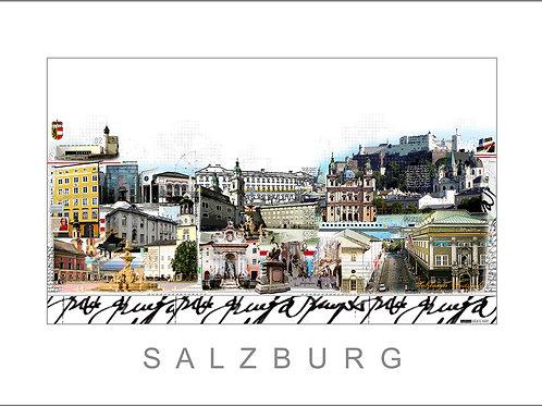Fine Art Print - Stadtansicht - Cityprint -Salzburg - Leslie G. Hunt