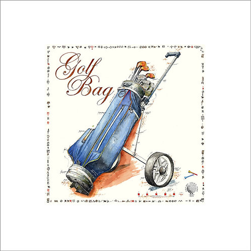 fine art print, golf, golfbag, leslieghunt