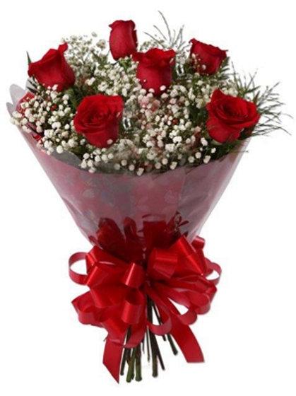 Buque de 6 Rosas Vermelhas colombianas.