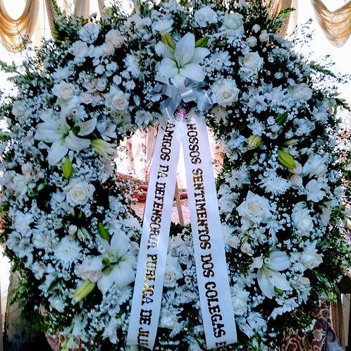 Coroa Redonda Branca Vazada